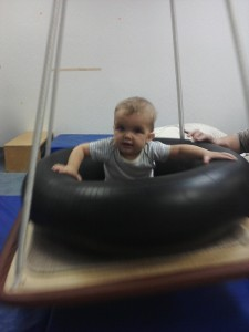 baby doing occupational therapy