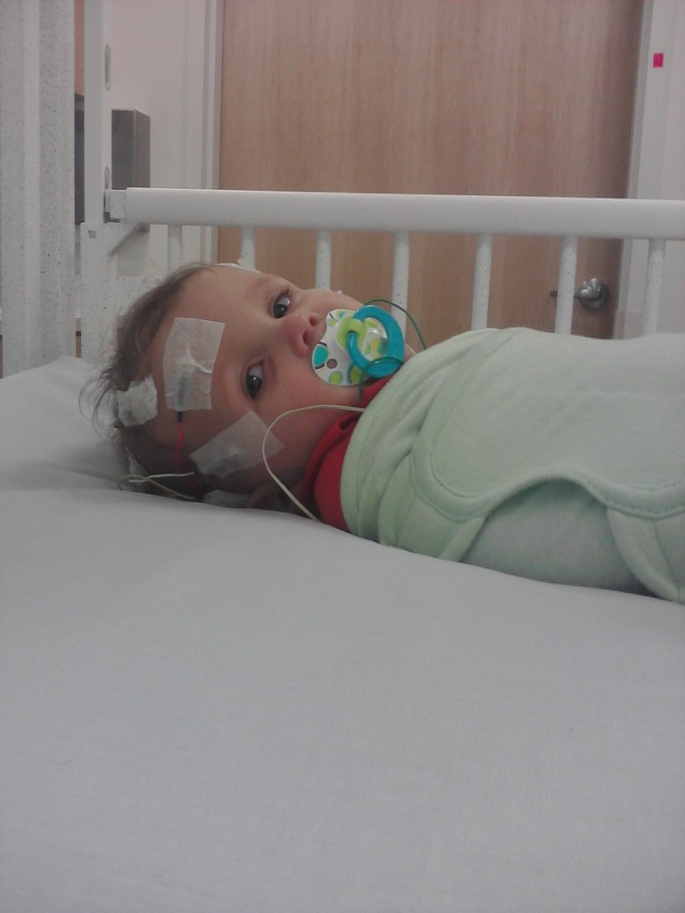 Baby getting sleep study