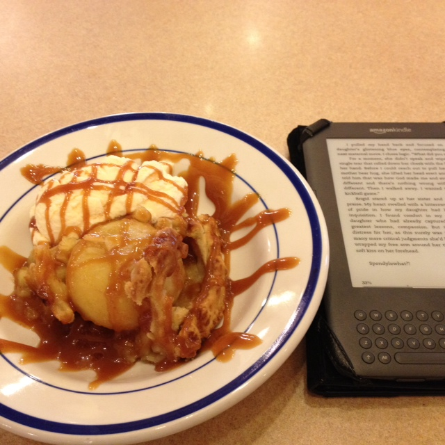apple pie and a kindle