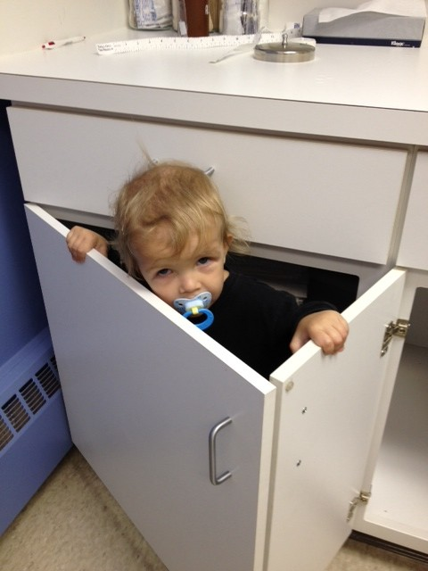 hiding from the doctor