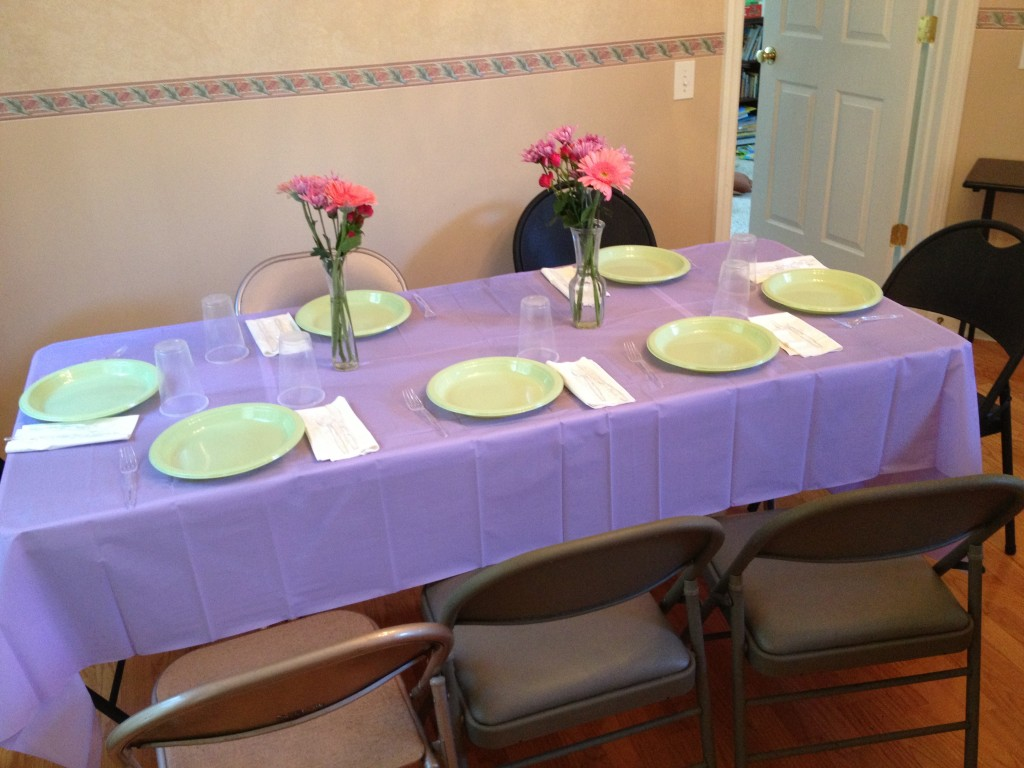 table decorated